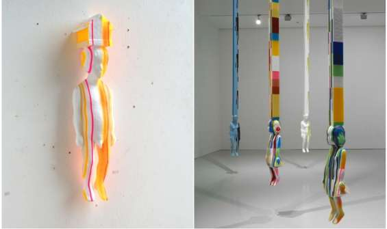 Colorfully Striped Sculptures