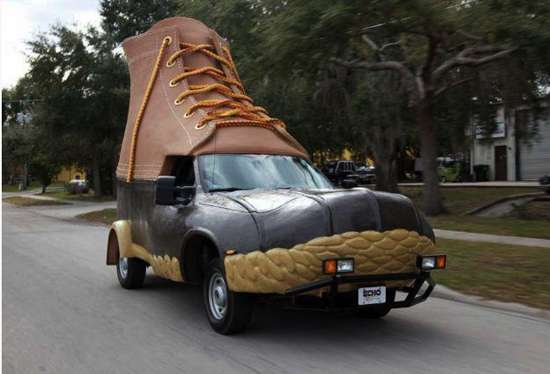 Giant Footwear Vehicles