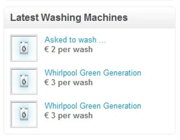 Crowdsourced Laundry Mats