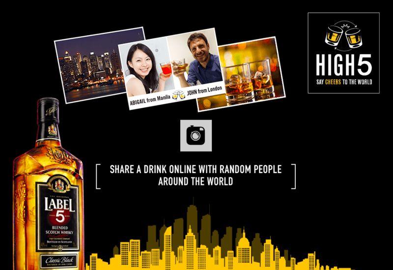 Virtual Drink-Sharing Campaigns