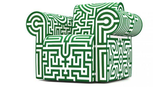 Maze Motif Seating