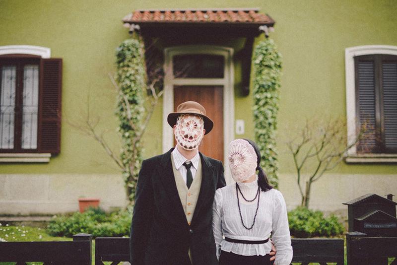 Doily Mask Portraits
