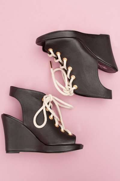 Lace Up Rope Wedges