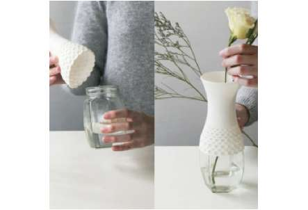 Sheathed Jar Vases
