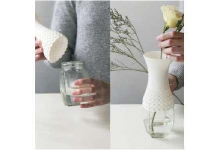 Sheathed Jar Vases