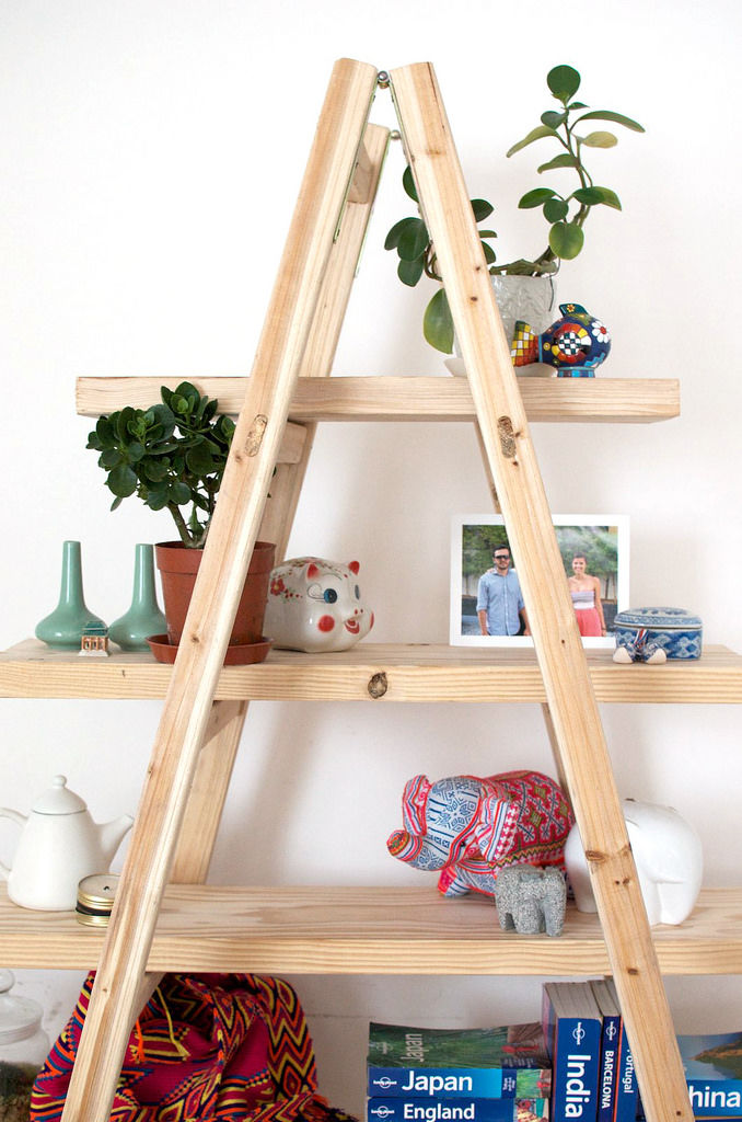 Upcycled Ladder Shelves