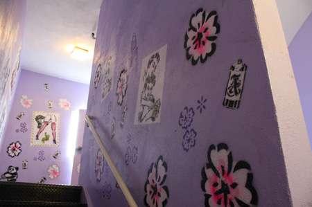Hotel Stairwell Art