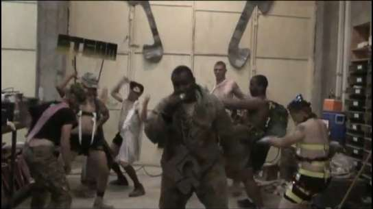 Gagafied Soldier Lip-Synching