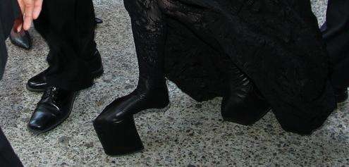 Lady Gaga heelless stilettos