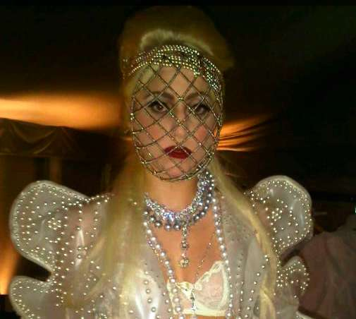 Lady Gaga's White Ball Oufit