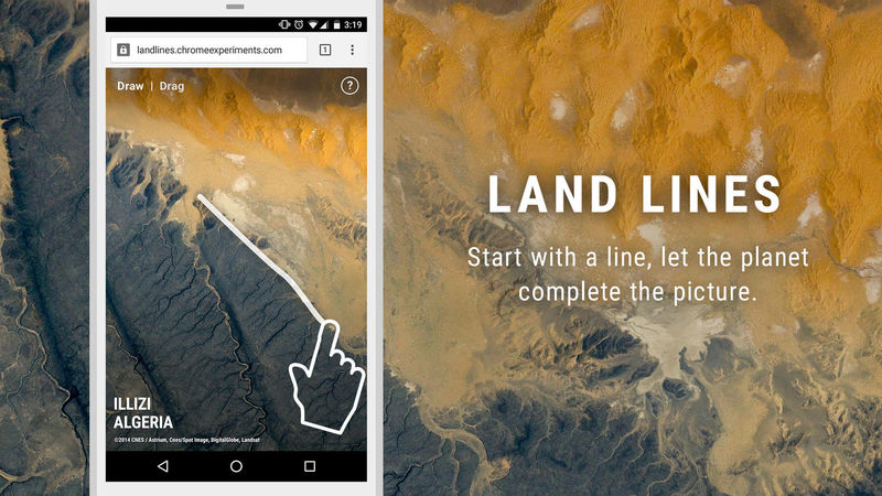 Geographic Line-Drawing Apps
