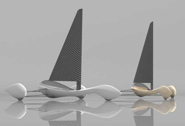 Soil-Roaming Sailboats