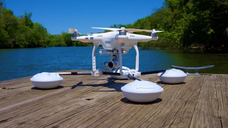 Floating Drone Landing Pads