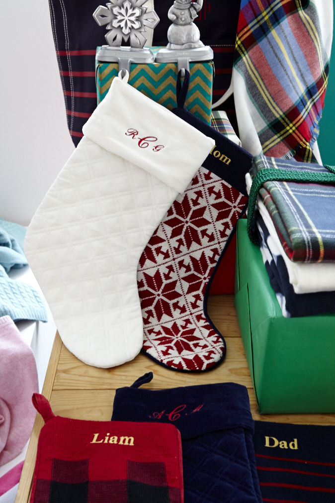 Monogrammed Holiday Accessories