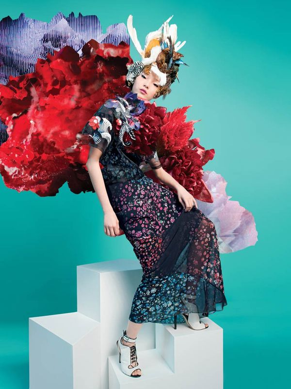 Exploding Botanical Fashion Ads