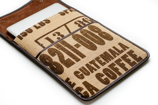 Burlap Sack Laptop Sleeves