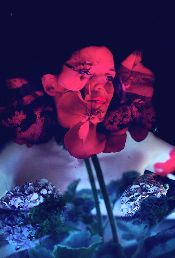 Double Exposure Floral Portraits