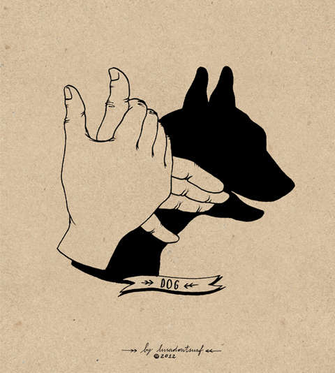 Feral Figure Finger Illustrations