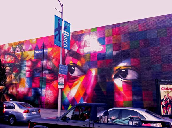 Giant Chromatic Face Murals
