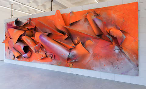 Vibrant Wreckage Sculptures