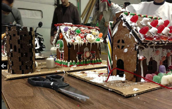 Laser Cut Gingerbread Houses