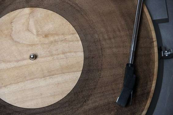 Wooden Laser-Carved Records