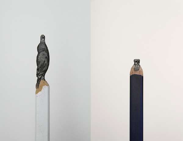 Animalistic Pencil Carvings