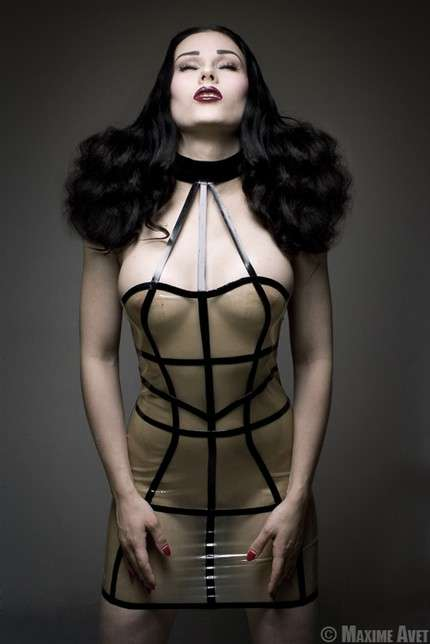 Latex Cage Dresses Fashion Trend Goes Extreme