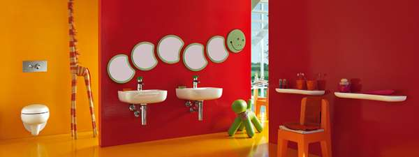 Colorful Child-Centric Restrooms