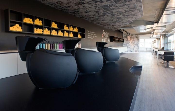 Monochrome Salon Interiors