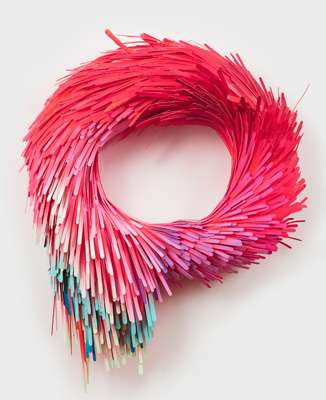 Multi-Colored Paper Sculptures