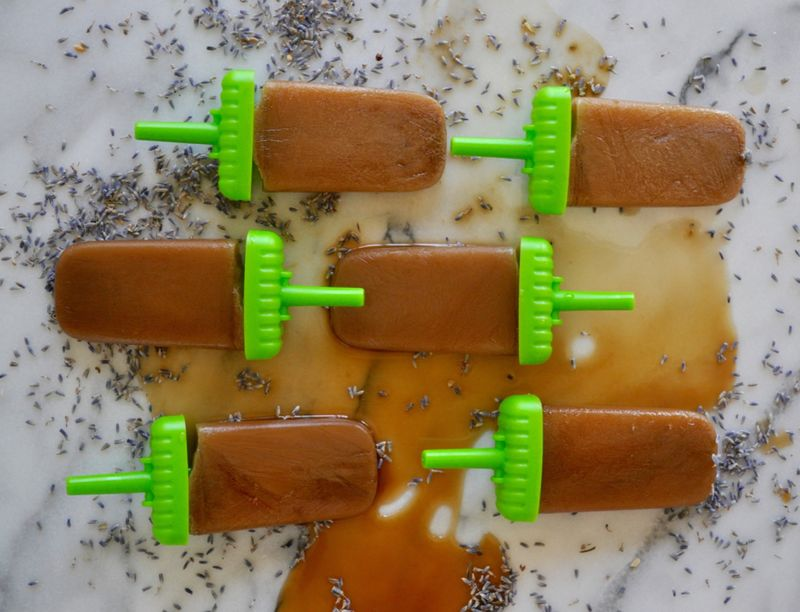 Lavender Latte Popsicles