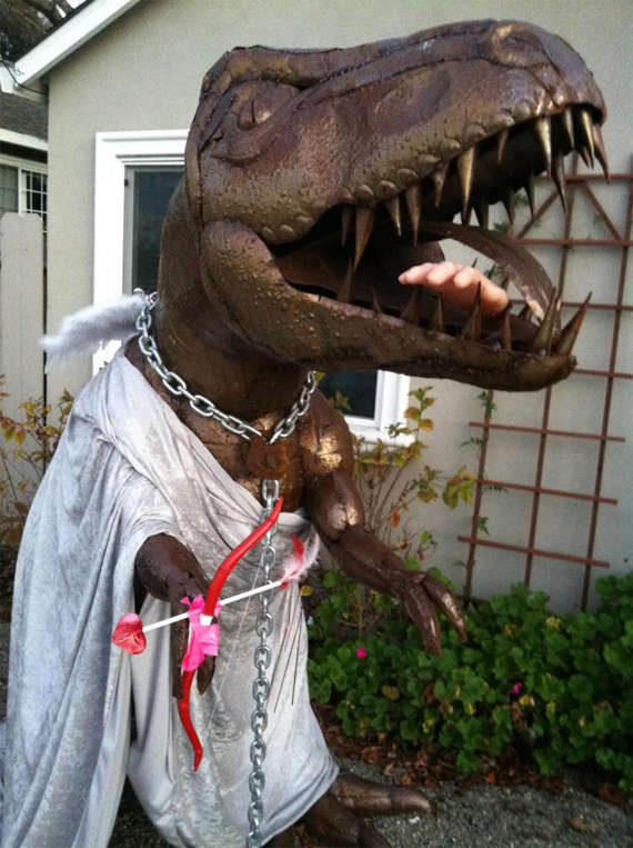 Seasonal-Costumed Lawn Dinosaurs