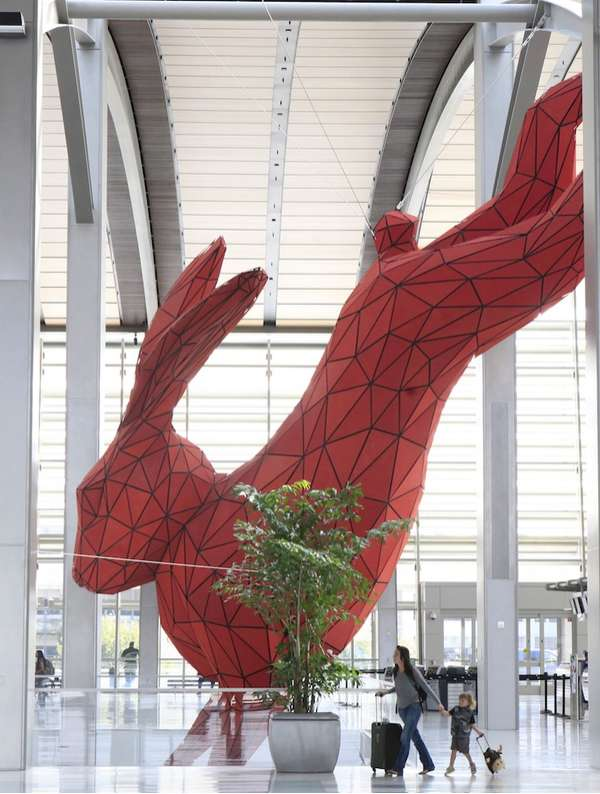 Massive Rabbit Sculptures
