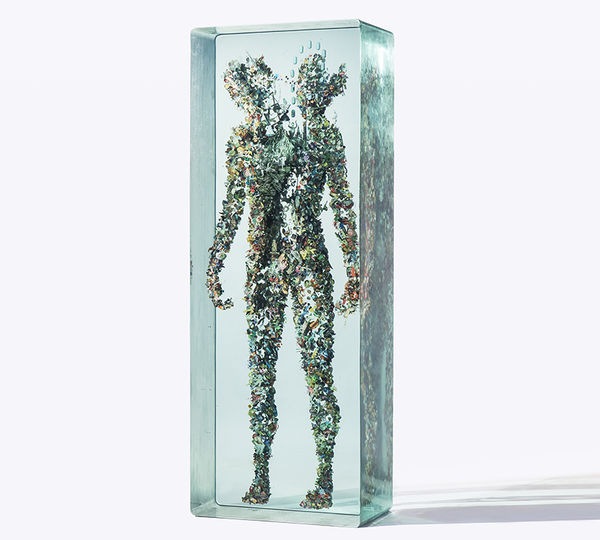 Confined Humanoid Ice Sulptures