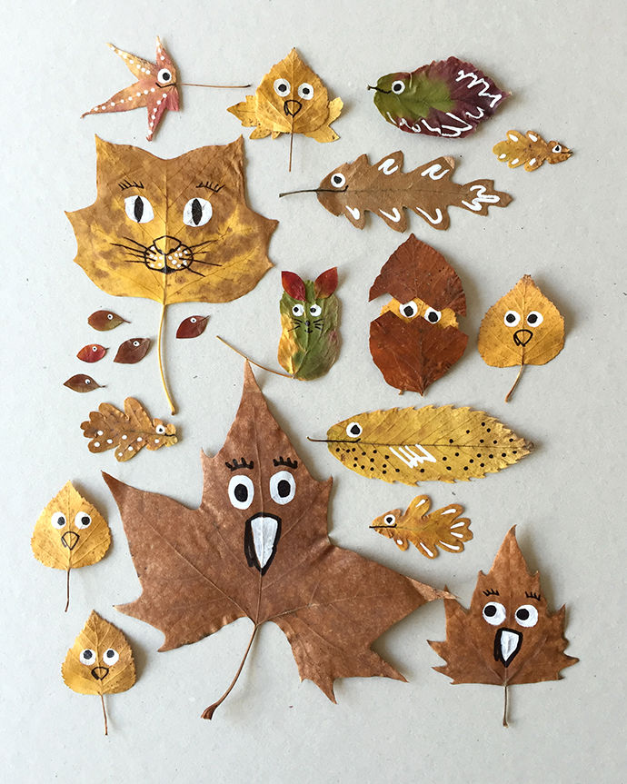 Expressive Leaf Decor