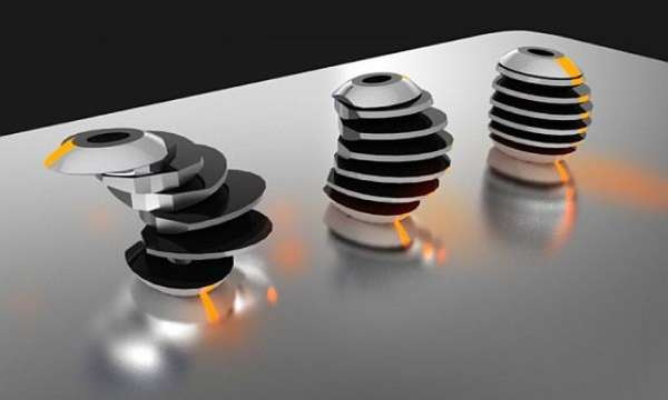 Stacked Solar Lamps