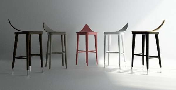 Leaf stool and bar chair
