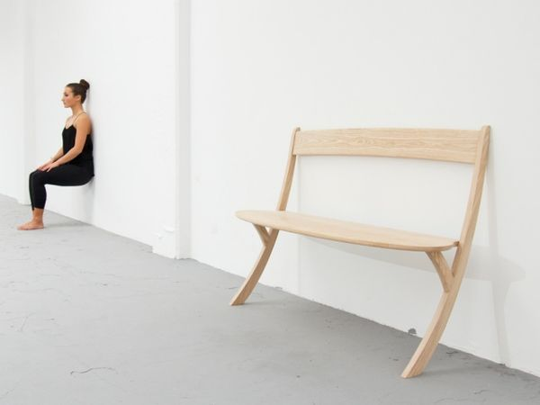 Minimalist Two-Legged Seating