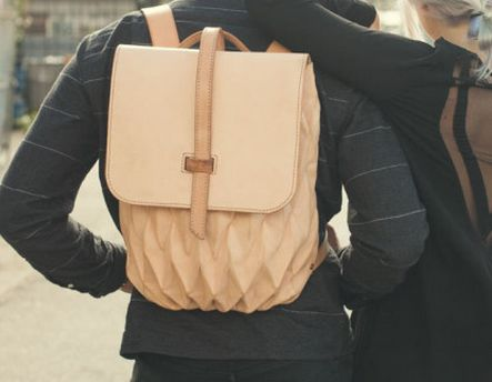 Expandable Pleated Backpacks