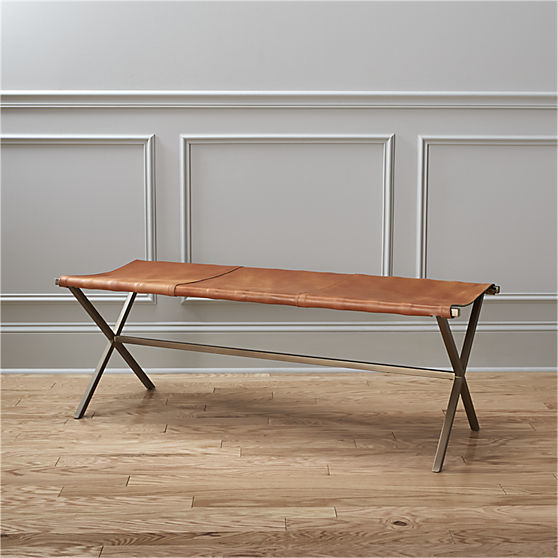 Rustic Leather Benches