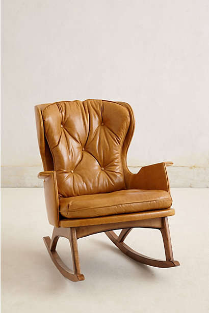 Remixed Vintage Furnishings : Leather Finn Rocker