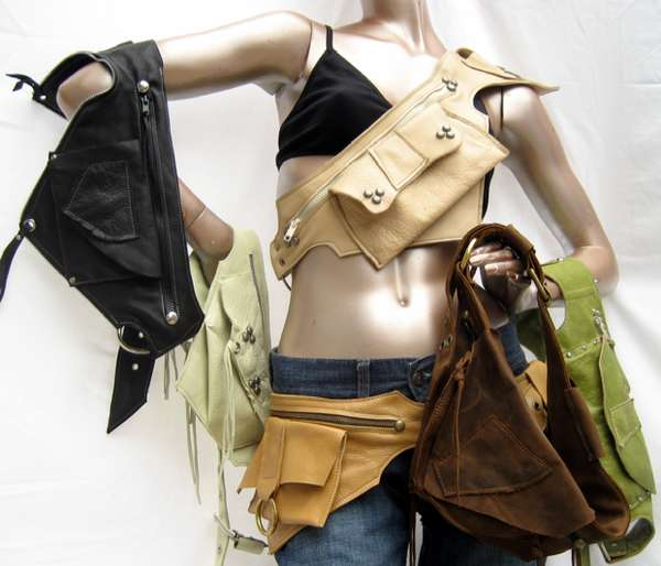 Upcycled Biker-Chic Accessories