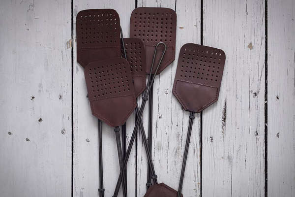Leather & Steel Fly Swatter