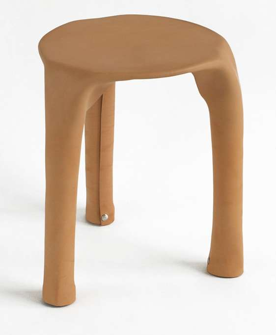 Leather Stool Chair