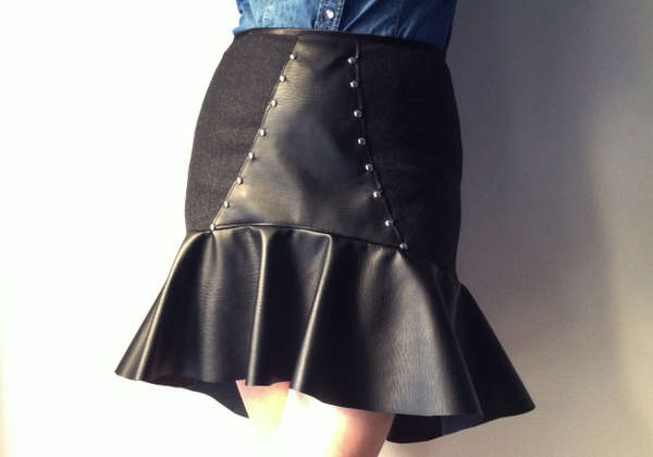 DIY Leather Studded Skirts