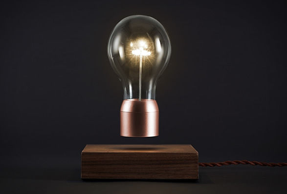 Surrealist Levitating Lightbulbs