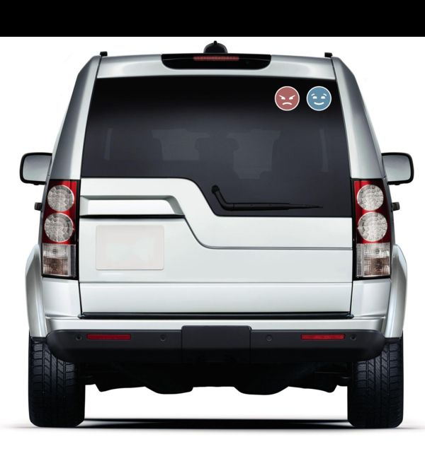 LED Emoticon Car Decals