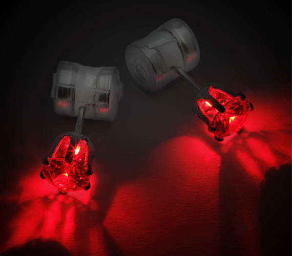 Battery-Charged Earrings