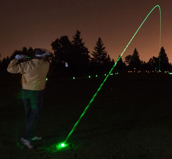 Glow-in-the-Dark Putting Equipment